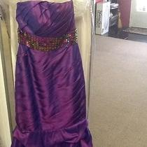 Prom Pageant Dress Blush Prom Purple Size 10 Photo