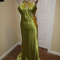 Prom Season 149 Blush Prom New Celery Green Semi-Formal Evening Gown Size 8 Photo