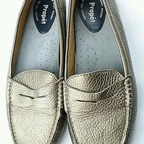 Propet Camilla Womens Slip on Shoes Sz 10 B Gold Leather W Air Cell Cushion Euc Photo