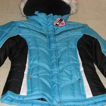 Protection System Girls Blue Winter Hoodie Faux Fur Jacket Sz 14 - Nwt 70 Photo