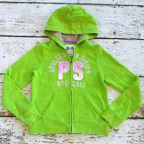 Ps Aero Aeropostale Girls Lime Green Full Zip Hoodie Sweatshirt Long Sleeve 10 Photo