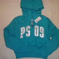 Ps Aeropostale Aqua Zip Front Hoodie Little Girls 5 Nwt Photo