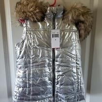 Ps From Aeropostale Fur Trim Hooded Vest Size 8 Photo