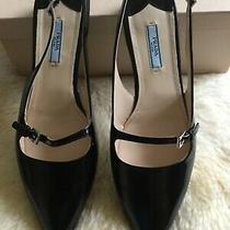 Ptada Milano Size 40/95 Black Sling Back Pointed Toe Flats Photo