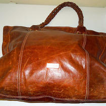 Pulicati Brown Leather Handbag Made in Italy Photo
