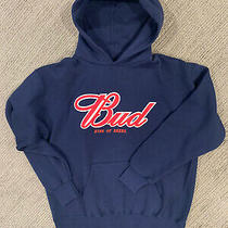 Pull Over Hoodie Budweiser King of Beers Jansport - Navy Blue - Size Large L Photo
