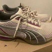 Puma 10 Cell Women's Running Walking Shoes Sz 9 M White Cushioned Insole Photo