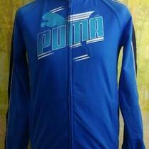 Puma 1980's Blue Full Zip Spell Out Logo Tracksuit Jacket. Uk Women's Size Xxl Photo