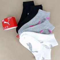 Puma 6-Pairs Women's Quarter Crew Socks Black/gray/white Photo