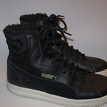 Puma 8 Black Hightop Sherpa Lined Boot Sneaker Sporty Chic Photo