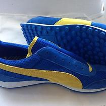 Puma Anjan Ext Mens Atheltic Sneakers Us 11. Blue and Yellow. Photo