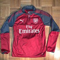 Puma Arsenal Red  Quarter Zip Warm Up Sweater Mens Size Small Photo