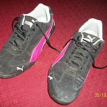 Puma Athletic Shoes Black Suede Women's Size 6 Photo