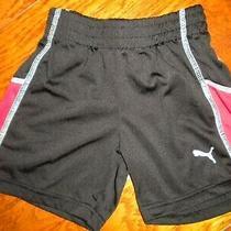 Puma Baby Boys Size 18 Months Black Red Trim Elastic Pull on Shorts Photo