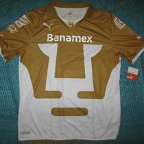 Puma Banamex Unma Dry Cell Soccer Jersey Xl Gold White Photo