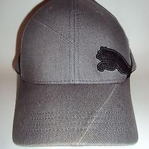 Puma Baseball Cap Hat Grey Black Flexfit S/m Small / Medium Photo