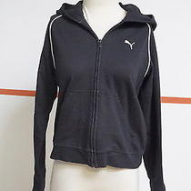 Puma Black/white Zip Front Hoodie Size Small Fun 9532  Photo