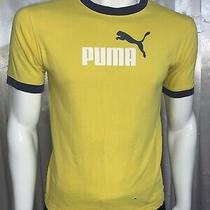 Puma Boy's Collection Yellow Crew-Neck T-Shirt Size Xl / Men's Size S Photo