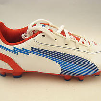 Puma Boys Youth Evospeed 5 Fg Jr Soccer Cleats 1.5 White Limoges Red 102595 New Photo