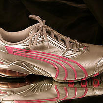 Puma Cell Pink & Silver Leather in Size 8.5 Photo