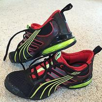 Puma Cell Running Shoe New W/o Box Mens Size 7 Black Neon Yellow Red Photo