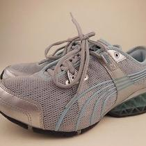Puma Cell Silver Blue Running Shoes Sz 8 Photo