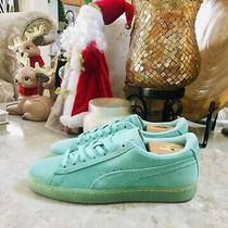 Puma Classic Size 7c Teal Green Suede Trainer Casual Sneakers Shoes for Women Photo
