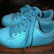 Puma Classic Turquoise Wide Lace Up Sneaker Shoes Size Youth 12 Photo
