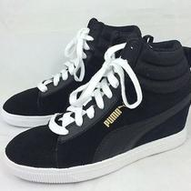 Puma Classic Womens Black Wedge Sneaker 3