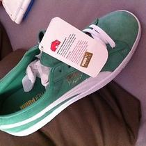 Puma Clyde Green and White Photo
