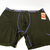 Puma Compression Briefs Underwear Nwt Large Blk & Purple Puma Logo on Leg Photo