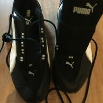 Puma Element Trainer Black White Metallic Silver Size 13  Mens Athletic New W/o  Photo