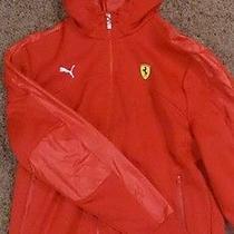 Puma Ferrari Sf Sport Softshell Track Jacket Hoodie Scuderia Racing Red Sz Large Photo