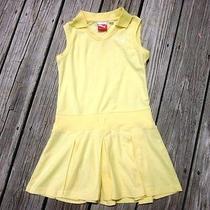 Puma Girls' Yellow Athletic Dress- Size M Photo