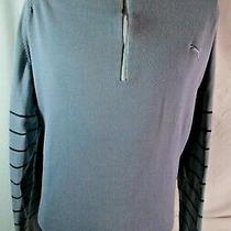 Puma Golf 1/4 Zip Cotton Pullover Sweater Gray Men/s Extra Large Xl Photo