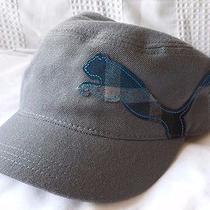 Puma Gray With Blue Plaid Mens Military-Style Wool Strapback Hat (Fashion/golf) Photo