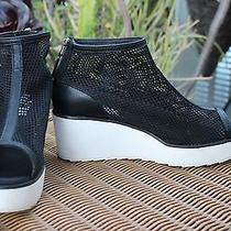 Puma Hakkoda Hussein Chalayan in Box 100 Black Perforated Wedge Us 7.5 Eur 38 Photo