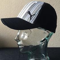 Puma Hat Black Grey and Black Stripes Photo