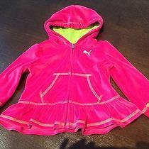 Puma Hoodie Jacket Full Zip 18m Toddler Girls Top Pink  Photo