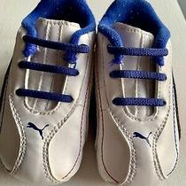Puma Infant Boys Crib Shoes  Sneakers White Red Blue Size 4 Toddler Photo
