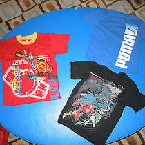 Puma/justice League/other Lot of 3 Tees Sz 5 Photo