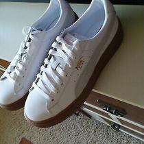 Puma Leather  Basket Platform Euphoria Gum Sneaker-White-Rose Gold Size Us 9.5 Photo