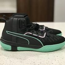 Puma Legacy Dark Mode Basketball Shoes Sneakers Mens Black Orchid Bloom Sz 11.5 Photo