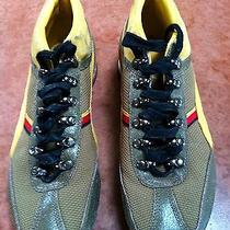 Puma Loipe Green Yellow Leather Toe Mesh Trainers Hiking Running Shoes Mens 8 Photo