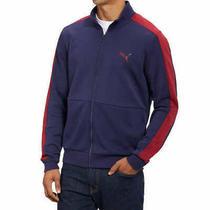Puma Men's Full Zip Track Active Casual Jacket Blue Kangaroo Stylish M L Nwt Photo