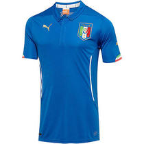 Puma Men's Italy 2014 Home Replica Soccer Jersey Large Blue Photo