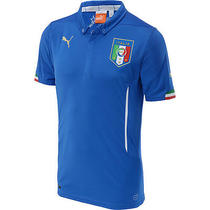 Puma Men's Italy 2014 Home Replica Soccer Jersey Medium Blue Photo