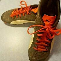 Puma Men's  Size10 - Soccer Cleats - Black and Orange  Photo