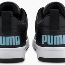 Puma Men's Us 10.5 Rebound Comfort Soft Foam Shoes Black White Baby Blue Clean Photo