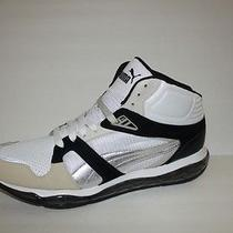 Puma Men's Xs 850 Tech Ln Hi Gray White Black Shoe Sneaker Tennis Size 13 Eur 47 Photo
